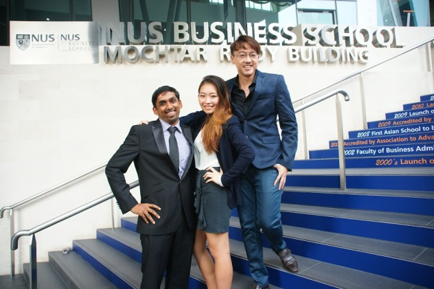 From left to right: Sanjay Satheesh, Ava Leung, Aaron Su