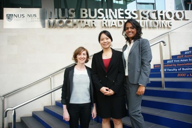 From left to right: Delphine Günther, Yana Chen, Aparna Mahadevan