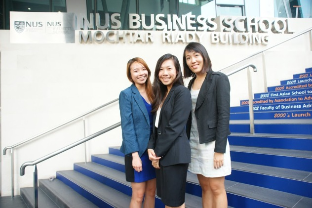 From left to right: Simin Pearl Cheong, Jasmin Tan, Jun Jia Ang